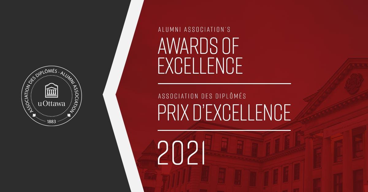 Alumni Association's Awards of Excellence banner