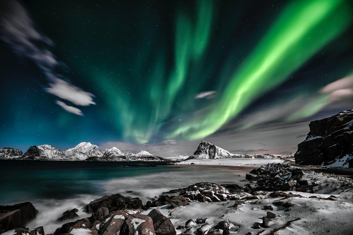Des aurores boréales dans l'Artique