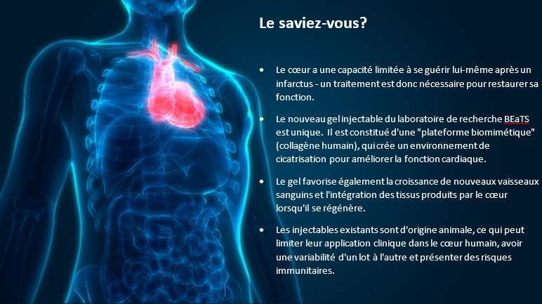 image d'un coeur humain à l'intérieur d'un corps