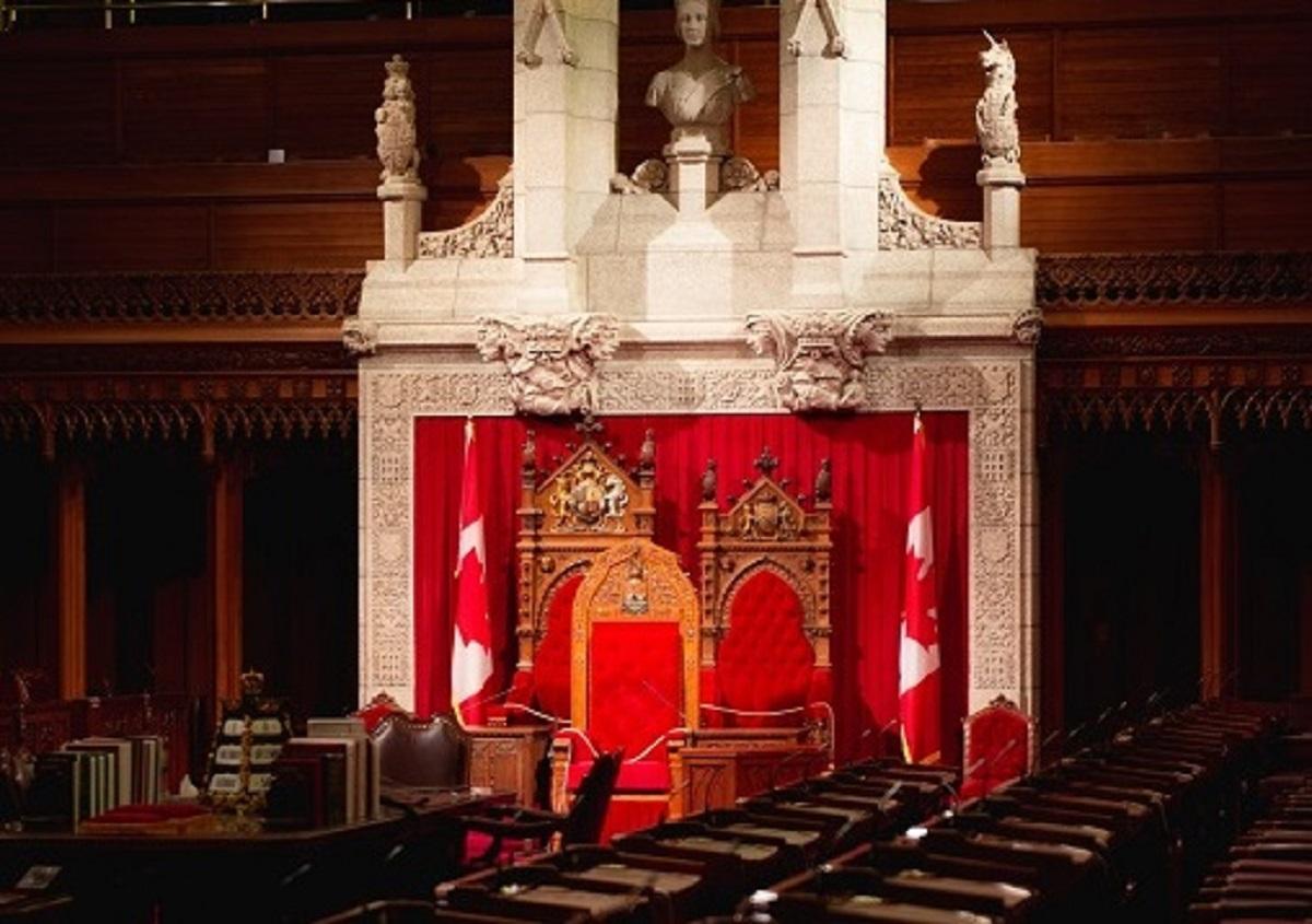 Interior of parliament