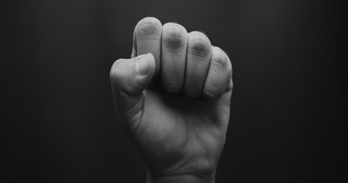 A raised fist