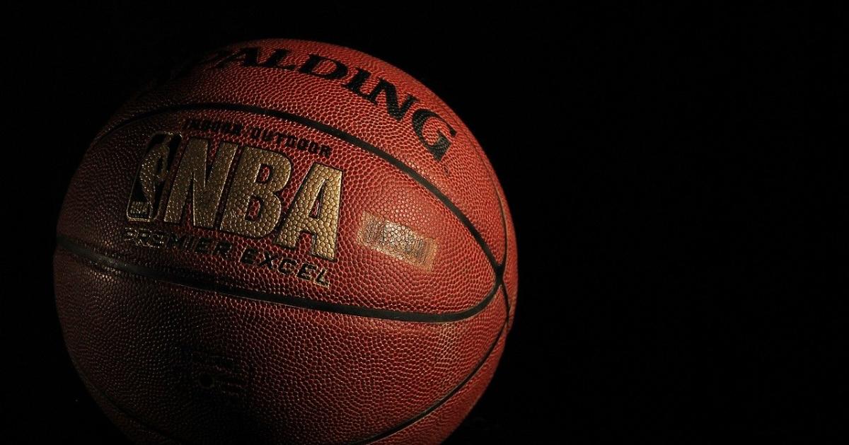 Basketball with a NBA logo