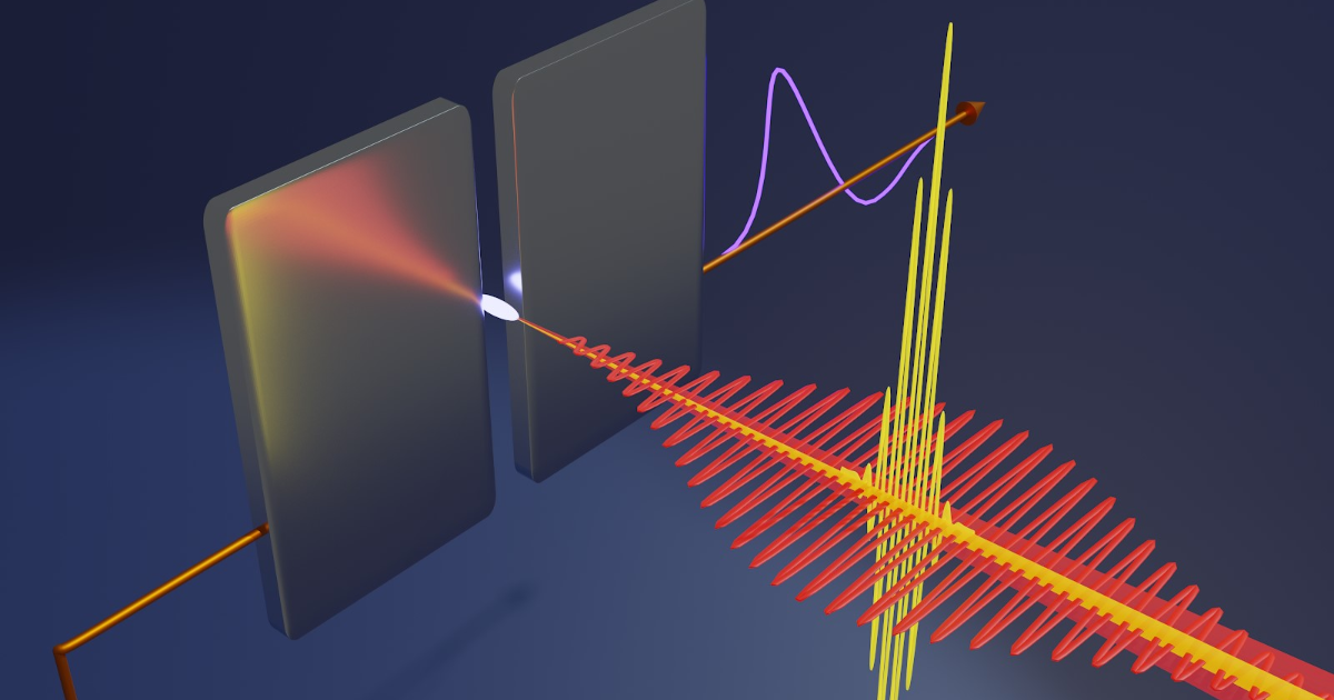 The detection of currents induced in ambient air plasma by a pair of cross-polarized laser pulses is used to sample the electric field of light waves