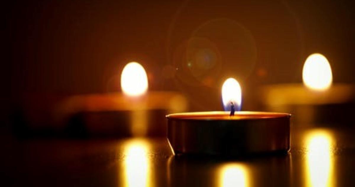A candle burning