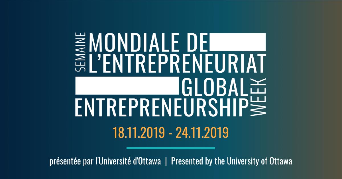 Logo de la Semaine mondiale de l'entrepreneuriat.