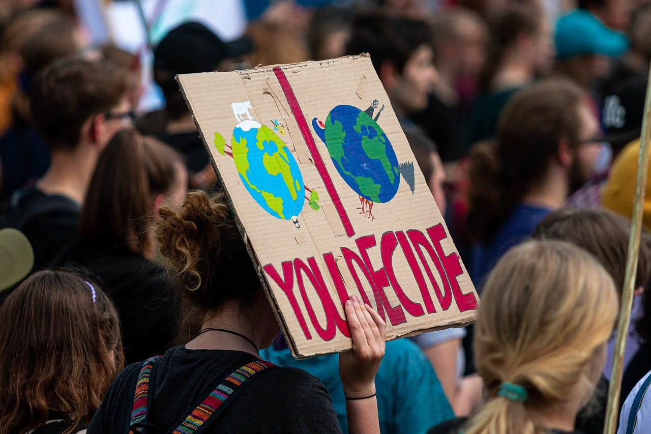 Climate march sign