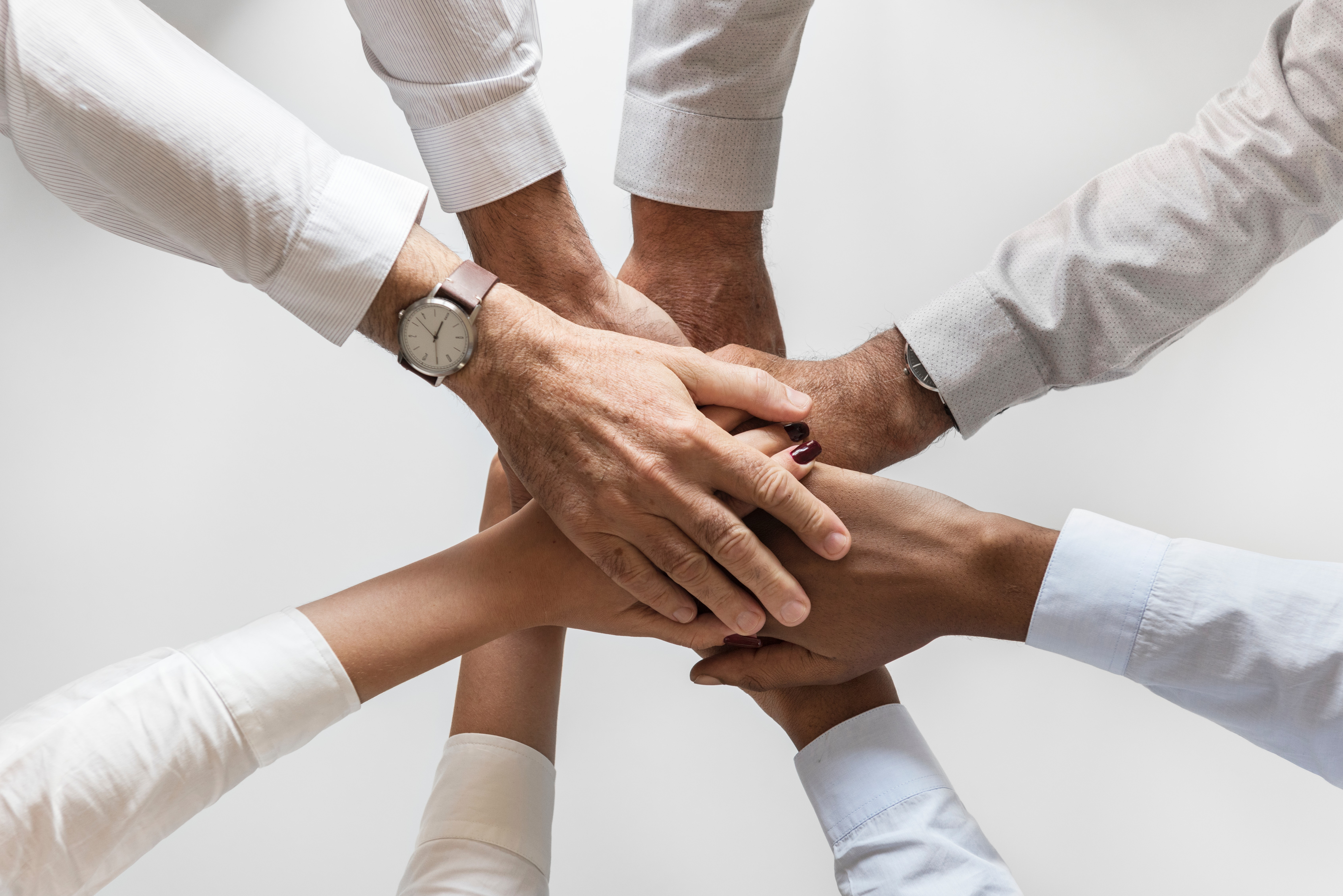 Hands showing support and collaboration