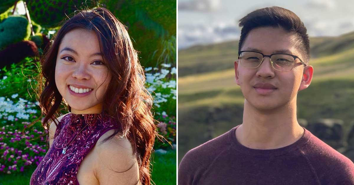 COVID Performers - Heidi Li, à gauche, et David Zheng, à droite.