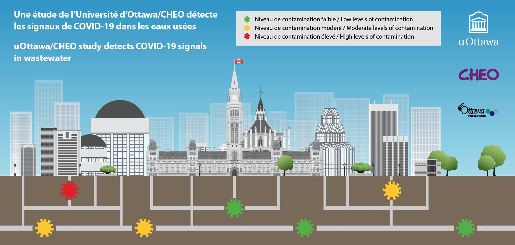 illustration de la ville d'Ottawa et de son systeme d'egouts