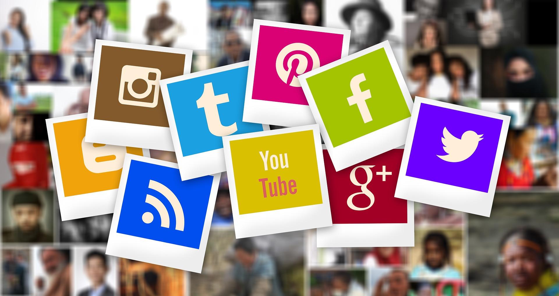 Image des logos des différents médias sociaux