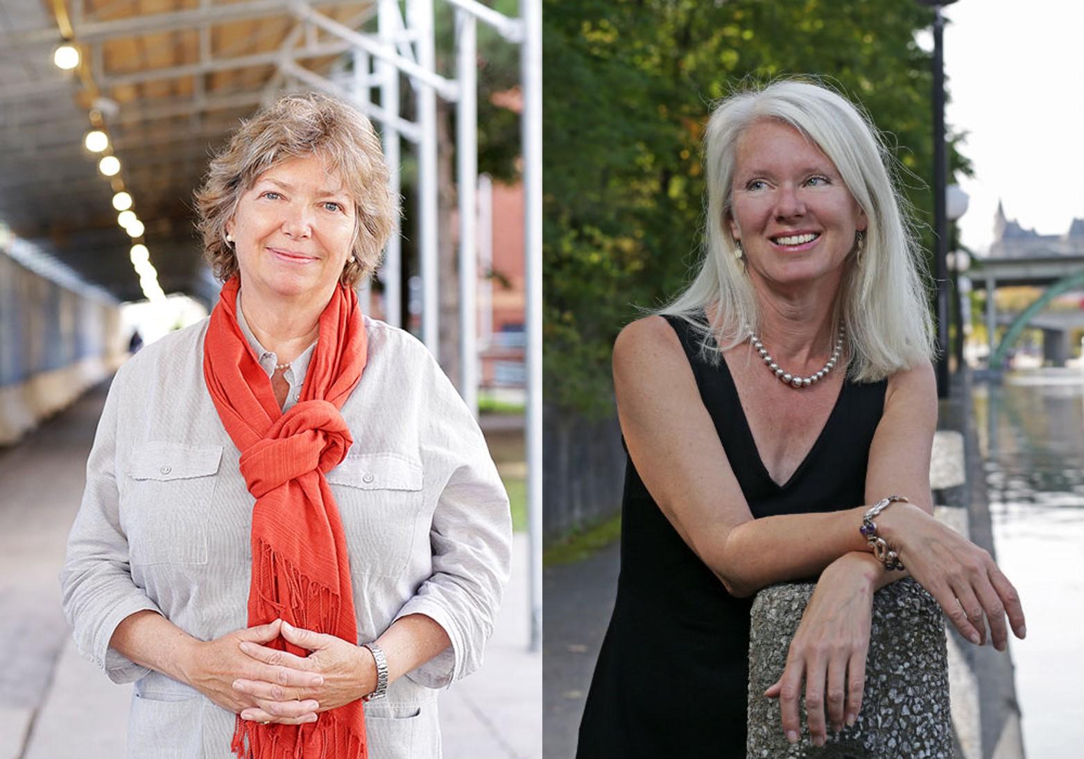 Les professeures Katherine Lippel and Lori Beaman