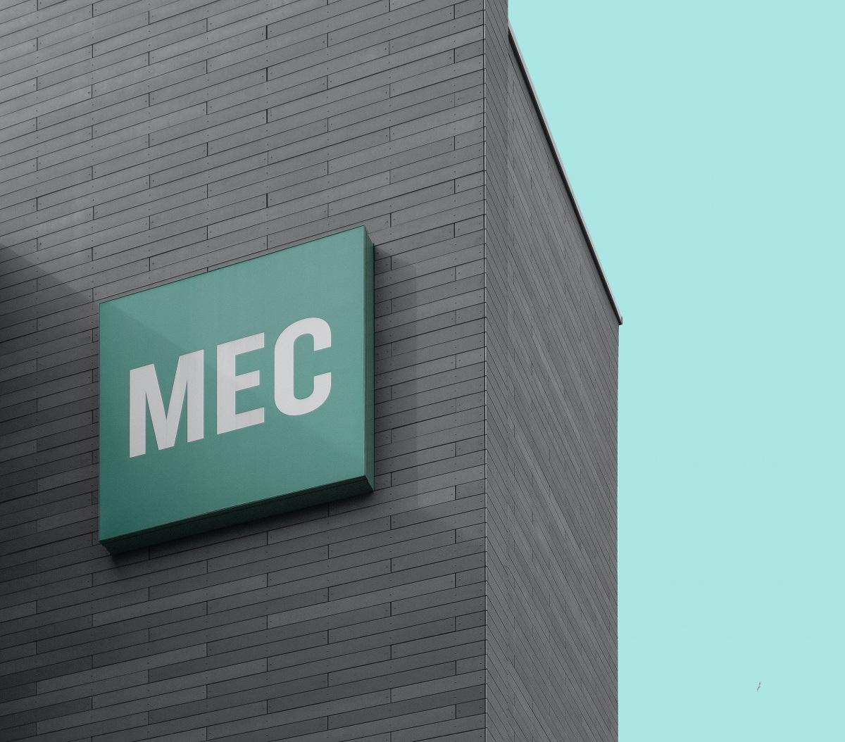 MEC logo on building