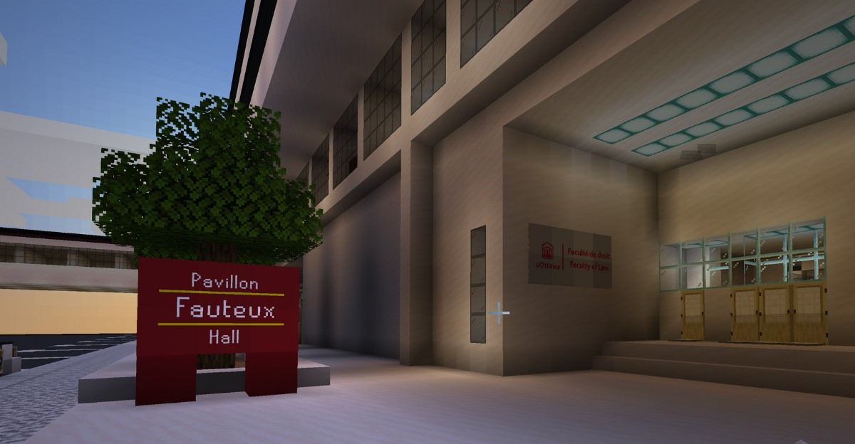 Front entrance of Fauveux Pavillion in Minecraft