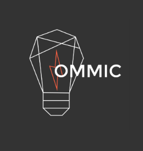 OMMIC logo, featuring a light bulb