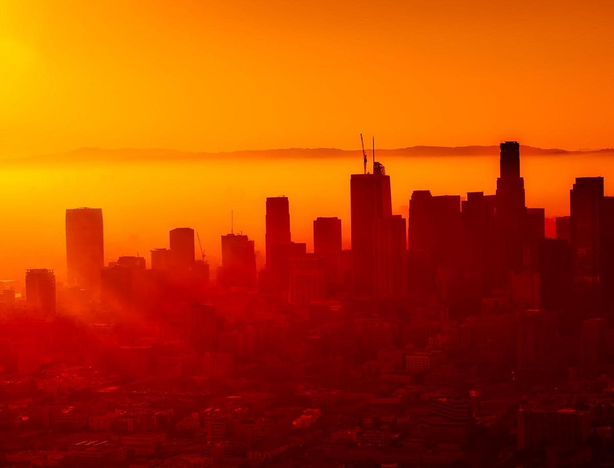 Vague de chaleur au dessus de la ville