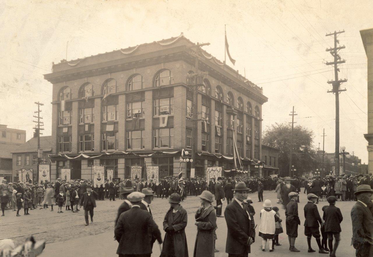 Historical scene in downtown Ottawa.