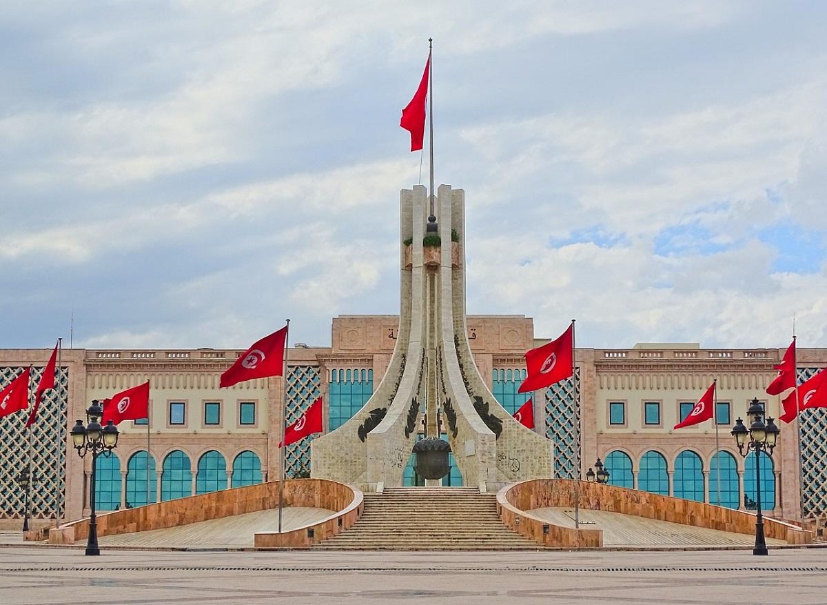 Monument nationale Place de la Kasbah à Tunis, Tunisie, en Afrique