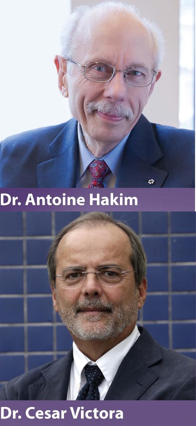 Le Dr Antoine Hakim et le Dr Cesar Victora