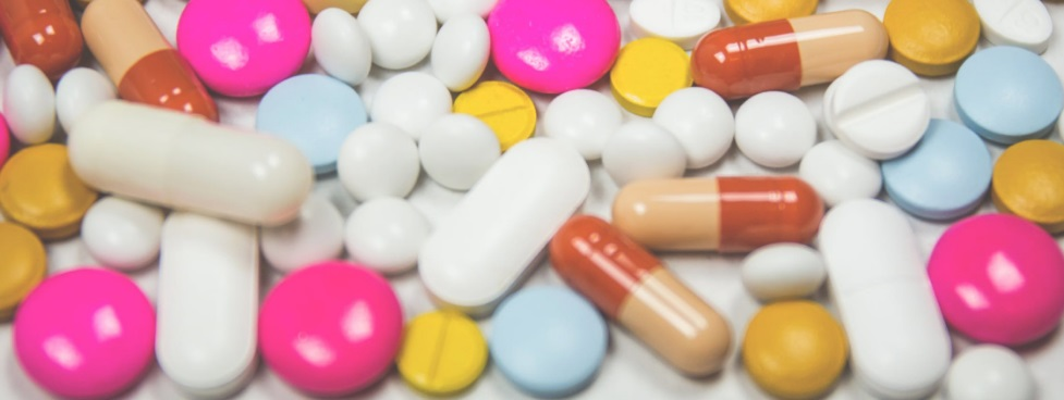 Pilules de couleurs variées