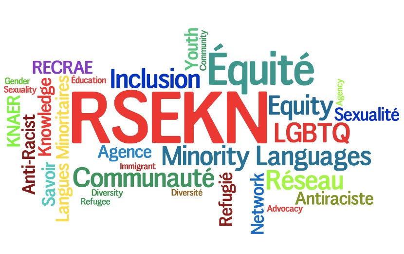 KNAER, Anti-Racist, Gender, Sexuality, Knowledge, Inclusion, Youth, Community, Equity, Agency, Immigrant, Diversity, Refugee, Network, Advocacy, Minority Languages, LGBTQ