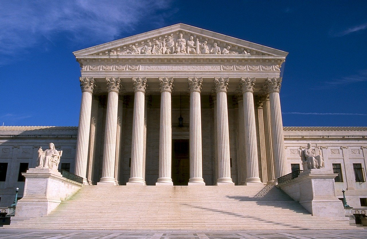 Front of U.S. Supreme Court building