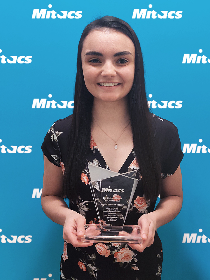 Taylor Jamieson-Datzkiw earns the Mitacs Award for Outstanding Innovation — Indigenous